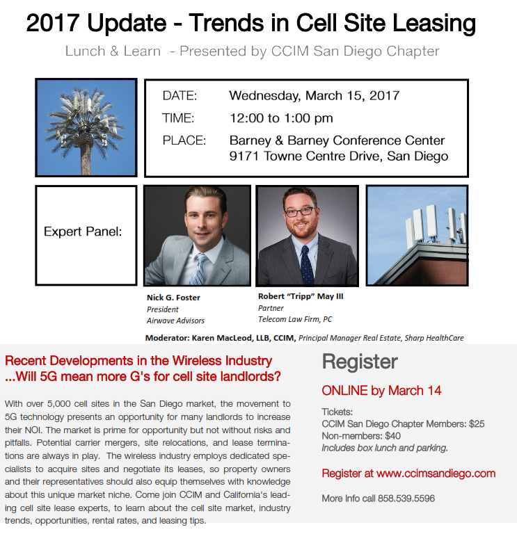 Trends In Cell Site Leasing 2017 CCIM