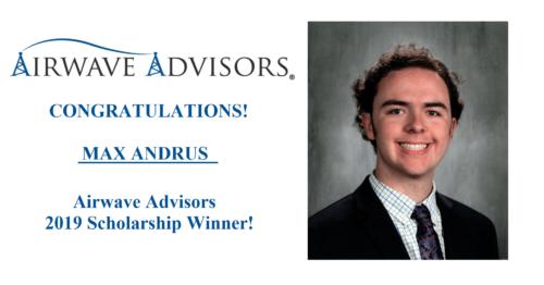 2019 Airwave Advisors Scholarship Awarded